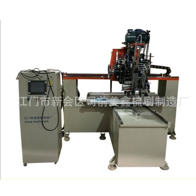 Flat drilling and wool planting machine
