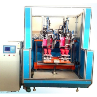 Two-axis two-head synchronous wool planter (broom)