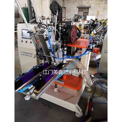 Two-axis, one-drill and one-plant-wood brush drilling and hair-planting machine